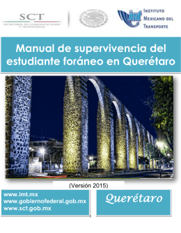 Manual de supervivencia del estudiante foráneo en Querétaro
