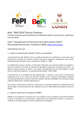 "Brief ""BePl 2014""Futuros Creativos."
