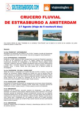 crucero fluvial de estrasburgo a amsterdam