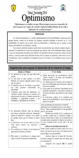 folleto del optimismo en pdf - Colegio Diocesano Obispo Labbé