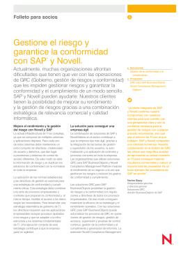Gestione el riesgo y garantice la conformidad con SAP* y Novell®
