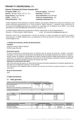 PRIVARY F1 DISCRECIONAL, F.I.