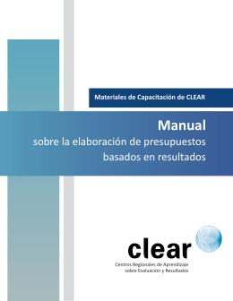 Manual sobre la elaboración de presupuestos basados en