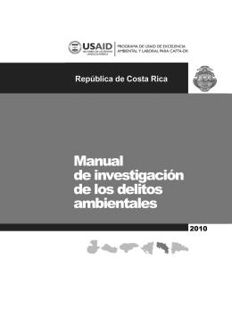 Manual de investigación de los delitos ambientales