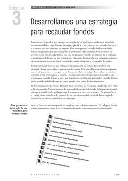 Sección 3 – Desarrollamos una estrategia para recaudar fondos