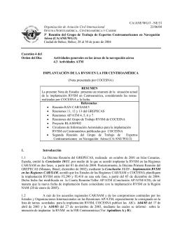 CA/ANE/WG/3 - NE/31 Organización de Aviación Civil