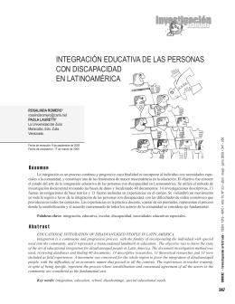 Integración educativa de las personas con discapacidad en