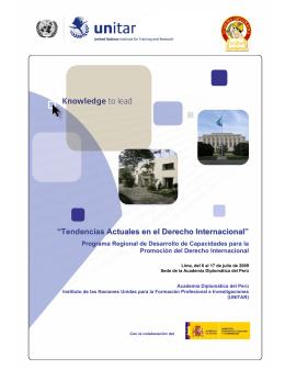 Tendencias Actuales en el Derecho Internacional