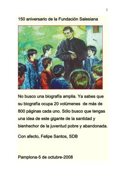 150 aniversario de la Fundación Salesiana