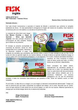 Publicidad – Volantes Chicos Buenos Aires, 9 de Enero