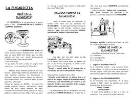 mision octubre la eucaristia