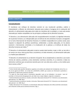 INDICADORES DDHH ALIMENTACION