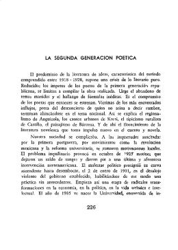 la segunda generacion poetica - Biblioteca Virtual El Dorado