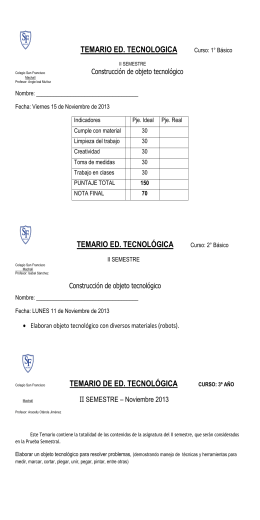 temario de ed. tecnológica