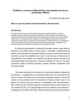 dos estudios de caso en Guatemala y México