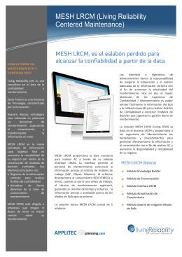 MESH LRCM (Living Reliability Centered Maintenance) LRCM