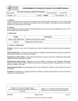 PVE04 Procedimiento Servicio Social por competencias