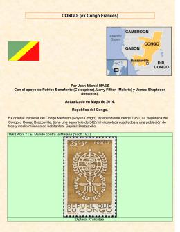 Estampillas con insectos del Congo (ex Frances)