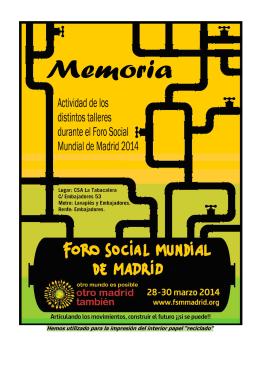 MEMORIA de Actividad FSMM 2014