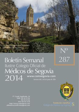 Descargar Boletín Nº 287 - Ilustre Colegio Oficial de Médicos de