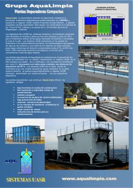AquaLimpia ha desarrollado sistemas de depuración adoptando la