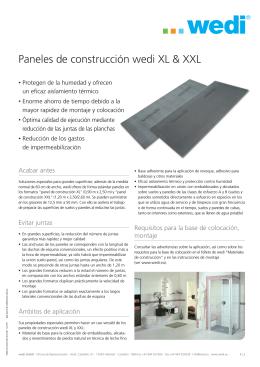 Florpost - Paneles de construcción wedi XL & XXL
