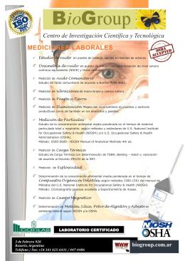 MEDICIONES LABORALES Centro de Investigación Científica y