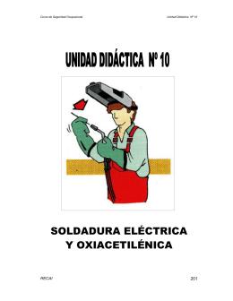 SOLDADURA ELÉCTRICA Y OXIACETILÉNICA