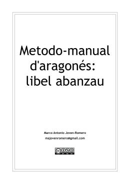 Metodo-manual d`aragonés: libel abanzau