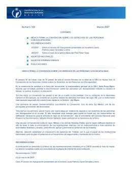 méxico firma la convención sobre los derechos de las personas con