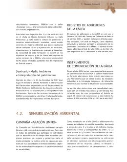 4.2. SENSIBILIZACIÓN AMBIENTAL