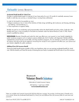P485-207 TX (INSERT) - Trustmark Insurance Company