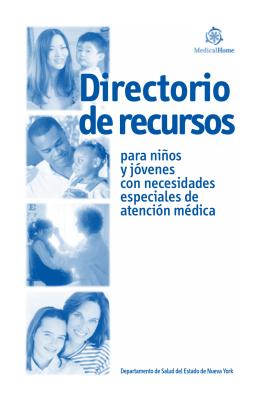 Directorio de recursos para niños con necesidades