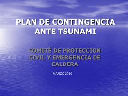 PLAN DE CONTINGENCIA ANTE TSUNAMI