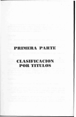 Clasificación por Títulos