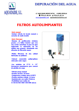 FOLLETO AUTOLIMPIANTE