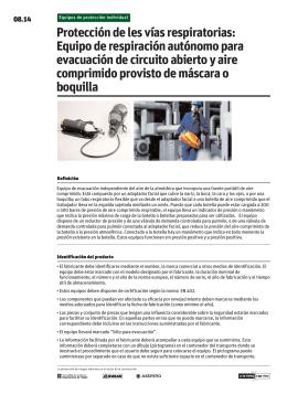 Equipo de respiración autónomo para evacuación de circuito