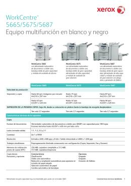 WorkCentre® 5665/5675/5687 Equipo multifunción en blanco y negro
