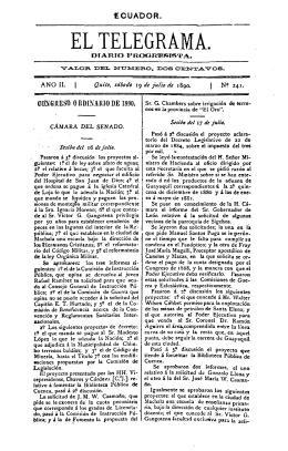 El Telegrama : diario progresista Año II, núm. 241, sábado 19 de