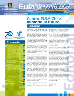 Centro EULA-Chile, mirando al futuro
