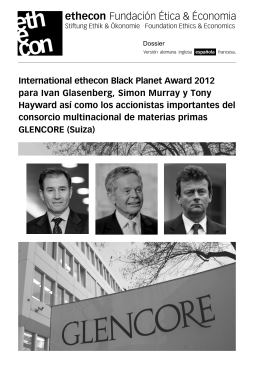Dossier GLENCORE / Black Planet 2012 (PDF