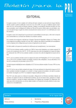 Boletín PRL nº 30