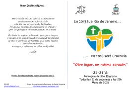 + Folleto Mayo 2015 - Parroquia de Santa Engracia