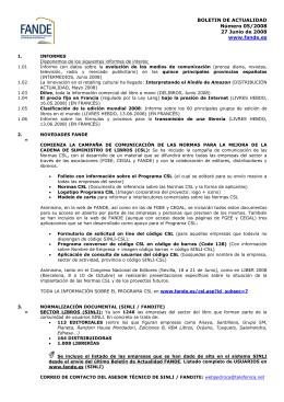 BOLETIN DE ACTUALIDAD Número 05/2008 27 Junio de 2008