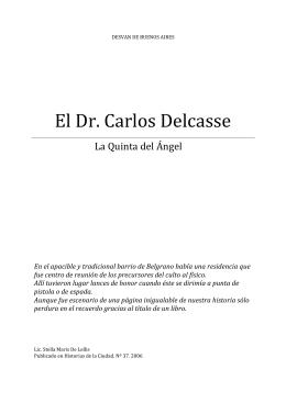 El Dr. Carlos Delcasse