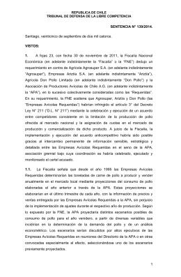 1 SENTENCIA N° 139/2014. Santiago, veinticinco de