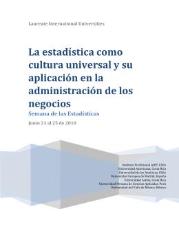 La estadística como cultura universal y su aplicación