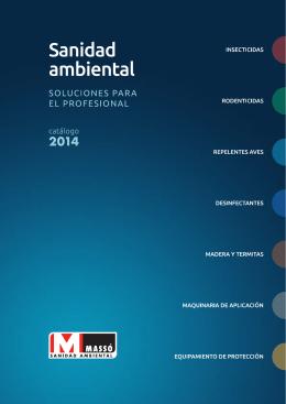 Catalogo 2014 SANIDAD AMBIENTAL