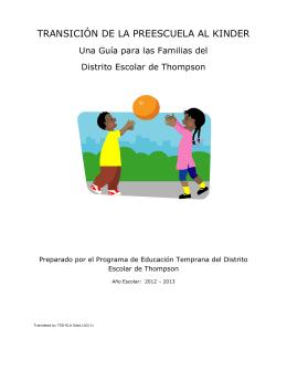 TSD EC Transition to Kindergarten Process