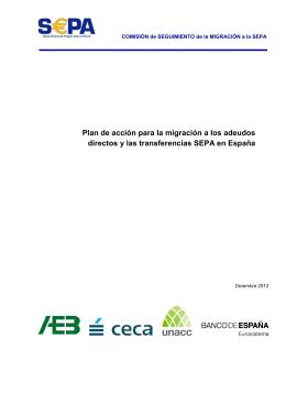 Plan de acción para la migración a los adeudos directos y